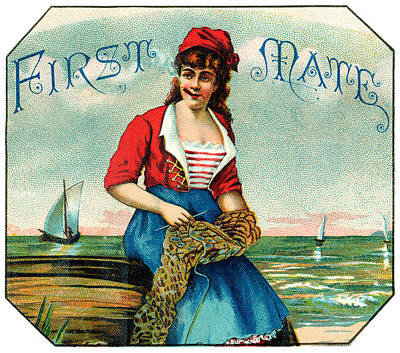 19th C. First Mate Cigars Poster by Historic Image
