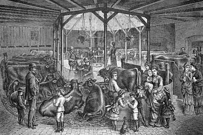 19th Century Dresden Milk Bar Poster by Bildagentur-online/tschanz