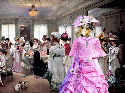 Collie Rough - Rough Collie Art Canvas Print Poster by Sandra Sij
