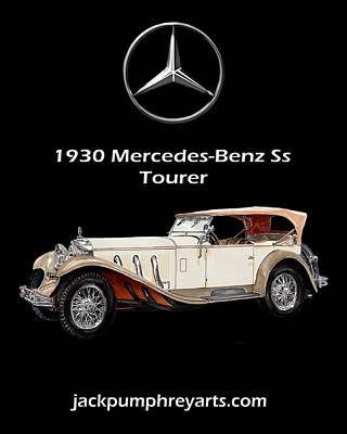1930 Mercedes Benz Ss Tourer Poster by Jack Pumphrey