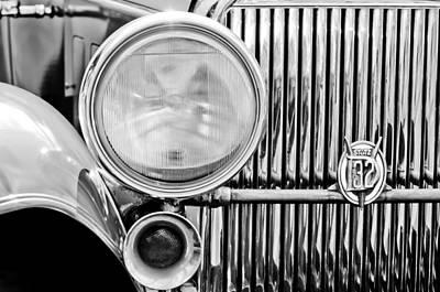 1931 Stutz Dv-32 Convertible Sedan Grille Emblem Poster by Jill Reger