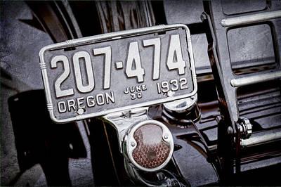 1932 Ford Model 18 Roadster Hotrod Taillight Poster by Jill Reger