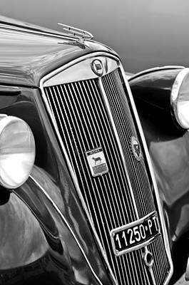1952 Lancia Ardea 4th Series Berlina Grille Emblems Poster by Jill Reger