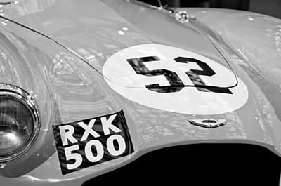 1955 Aston Martin Db3s Sports Racing Car Hood Poster by Jill Reger