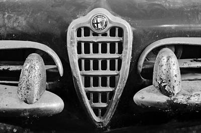 1957 Alfa Romeo Giulietta Spider Grille Emblem Poster by Jill Reger