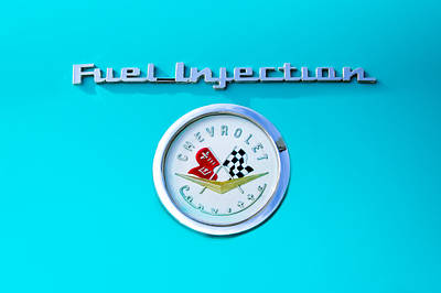1957 Chevrolet Corvette Emblem Poster by Jill Reger