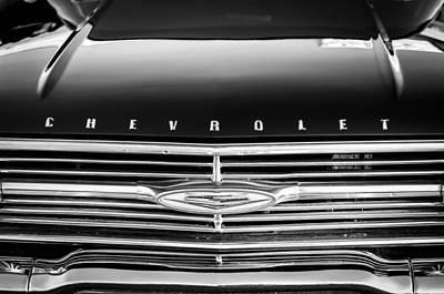 1960 Chevrolet El Camino Grille Emblem Poster by Jill Reger