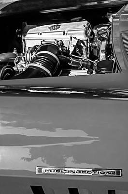 1966 Chevrolet Corvette Rds 427 Engine Poster by Jill Reger