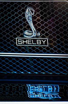 1969 Shelby Gt500 Convertible 428 Cobra Jet Grille Emblem Poster by Jill Reger