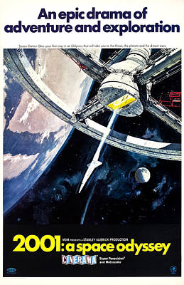 2001 A Space Odyssey, 1968 Poster by Everett