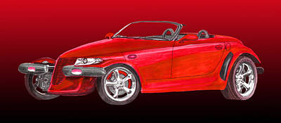 2002 Plymouth Prowler Poster by Jack Pumphrey