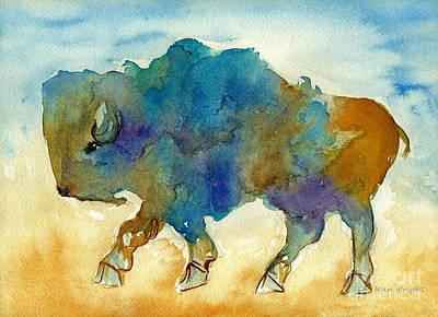 Abstract Buffalo Poster by Nan Wright