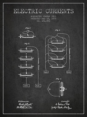 Alexander Graham Bell Electric Currents Bell Patent From 1876 -  Poster by Aged Pixel