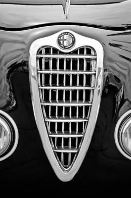 Alfa Romeo Milano Grille Emblem Poster by Jill Reger