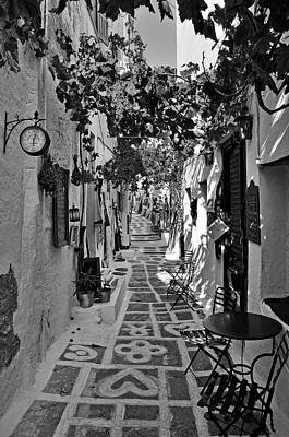 Alley In Ios Town Poster by George Atsametakis