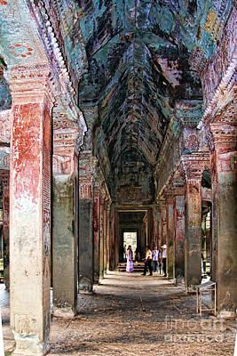 Angkor Wat Hallway Poster by Joerg Lingnau