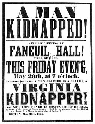Anthony Burns Trial, 1854 Poster by Granger