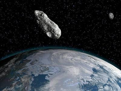 Asteroid Poster by Juan Gaertner