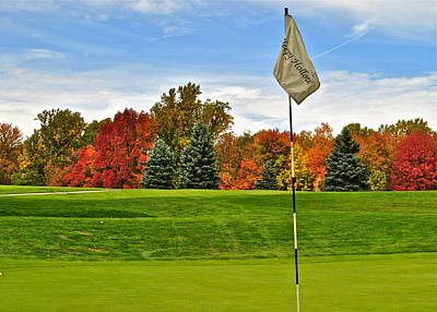 Autumn Golf Poster by Frozen in Time Fine Art Photography