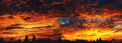 Awe Inspiring Sunset Poster by Ellen Henneke