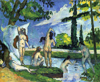 Bathers By Cezanne Poster by John Peter
