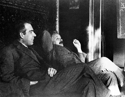 Bohr And Einstein Poster by Emilio Segre Visual Archives/american Institute Of Physics