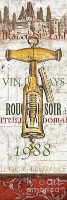 Bordeaux Blanc 1 Poster by Debbie DeWitt