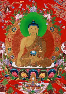 Buddha Art Poster by Ts