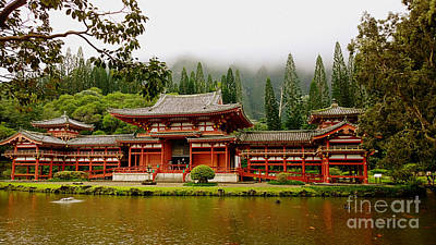 Byodo In Temple Poster by Cheryl Young