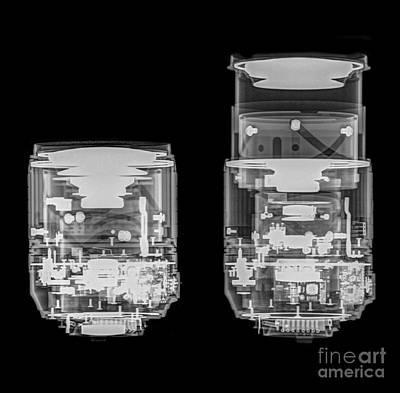 Camera Lens Under X-ray  Poster by Guy Viner
