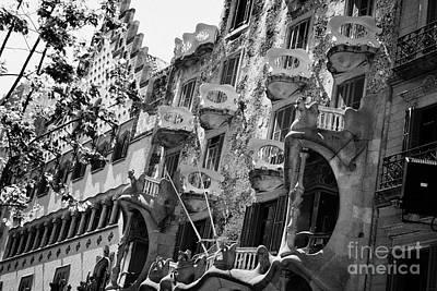 casa batllo modernisme style building in Barcelona Catalonia Spain Poster by Joe Fox