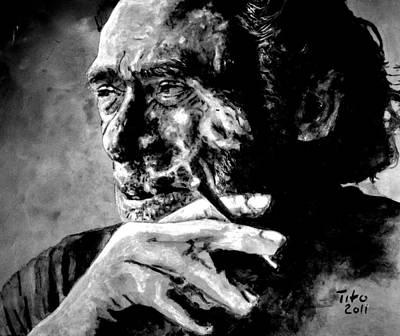 Charles Bukowski Poster by Richard Tito
