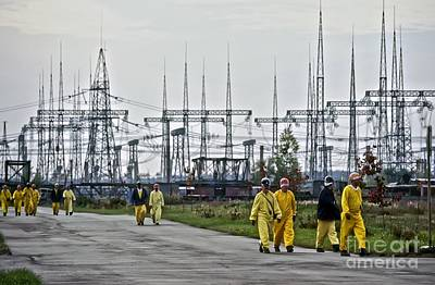 Chernobyl Disaster Shelter Maintenance Poster by Patrick Landmann