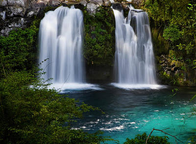Chile South America Waterfalls At Ojos Poster by Scott T. Smith