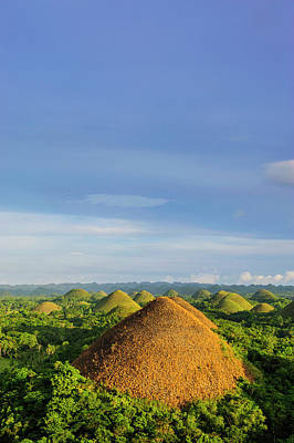 Chocolate Hills, Bohol, Philippines Poster by Michael Runkel