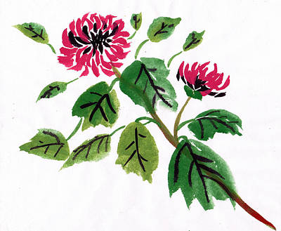 Chrysanthemum Poster by Ken Hughson