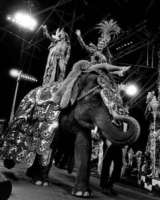 Circus Stars Ride Elephant Poster by Retro Images Archive