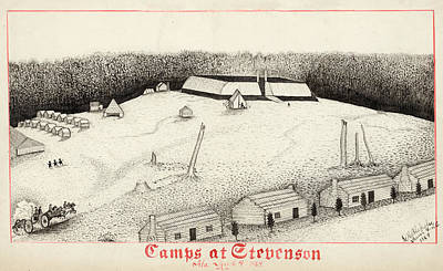 Civil War Camp, 1864 Poster by Granger