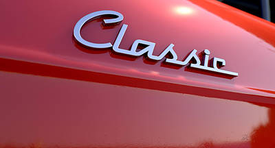 Classic Chrome Car Emblem Poster by Allan Swart