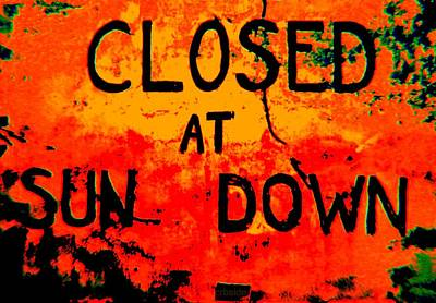 Closing Time Poster by Chris Berry