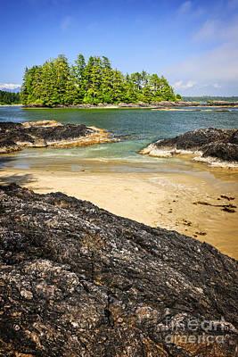 Coast Of Pacific Ocean On Vancouver Island Poster by Elena Elisseeva