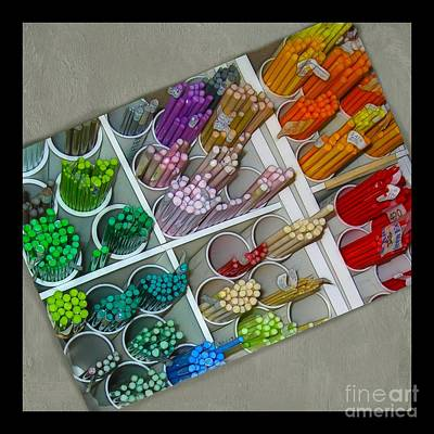 Colorful Glass Rods Poster by Judi Bagwell