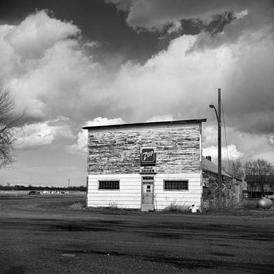 Country Small Town Tavern - Fine Art Print - North Dakota Poster by Donald  Erickson