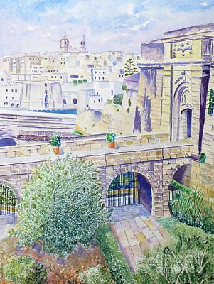 Couvre Port Birgu Malta Poster by Godwin Cassar