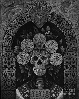 Dia De Muertos Madonna Poster by Ricardo Chavez-Mendez