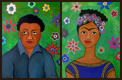 Diego And Frida Poster by Pristine Cartera Turkus
