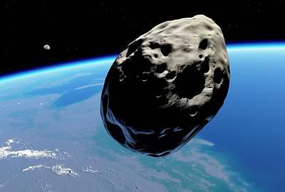 Dinosaur Extinction Asteroid Poster by Detlev Van Ravenswaay