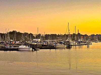 Dock Of The Bay Poster by Frozen in Time Fine Art Photography