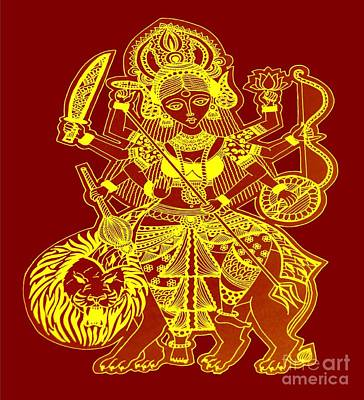 Durga Maa Poster by Sketchii Studio