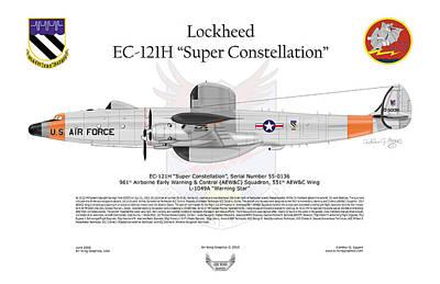 Ec-121h Super Constellation Poster by Arthur Eggers